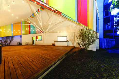 The Chapel is a community space in Vietnam designed to be the place for people, especially the youth, to participate in conferences, exhibitions