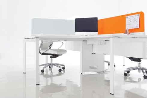 Collaborate L Workstations aim to facilitate interaction between people and maximise productivity