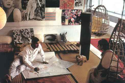 Charles Correa and his wife Monika at home in Sonmarg featured by NationalGeographic in 1981