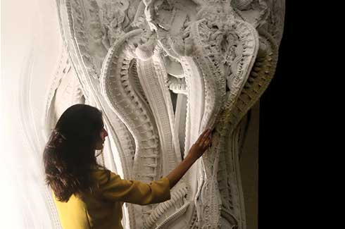 Can 3D printing technology be used to make intricate ornamental structures, or even art?