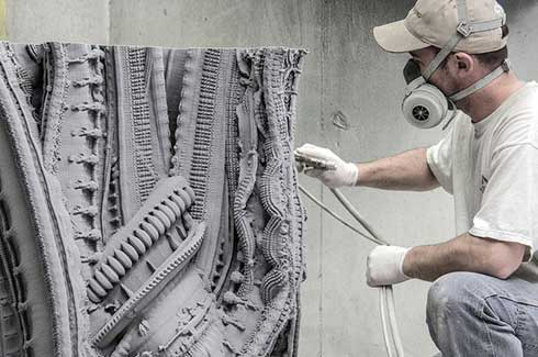 Benjamin Dillenburger and Michael Hansmeyer have created a ten feet tall ornamental wall called Arabesque Wall with the help of 3D printing technology