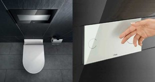 Viega's design initiative, Visign has developed innovative touchless flush plates with an absolutely flat, discreet design