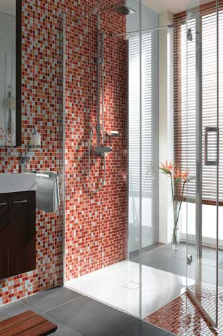 The showers are designed so as to maximise comfort and offer freedom of movement