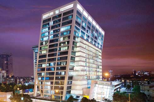 One Indiabulls Centre in central Mumbai is a green building constructed using recycled metal and water and energy efficient technology