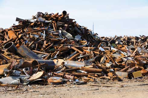 There are large amounts of scrap steel produced each year which can be recycled and reused