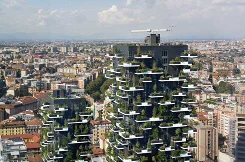 The Vertical Forest works towards enhancing urban biodiversity but without spreading out along the pricey urban spaces