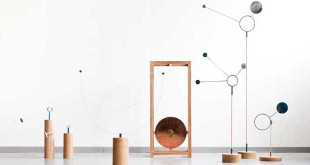 This series of atmospheric sensors are sculptures that measure and report changes in the weather