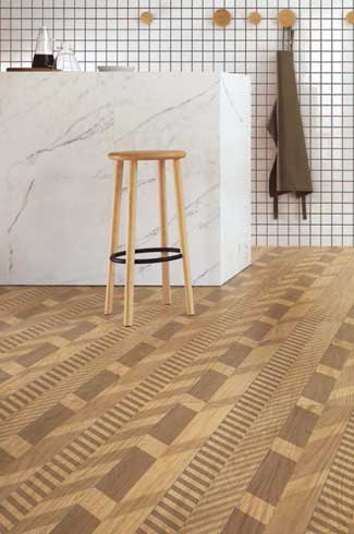 With advancements in technology, ceramic and vinyl tiles are now exact replicas of real wood tiles