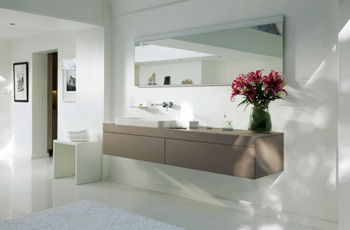 Bathroom products by Keuco are designed  around three core aspects design, functionality and ergonomics