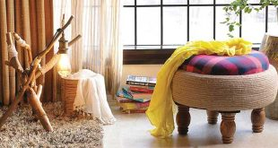 Roped with a Twist Ottoman by Desi Jugaad