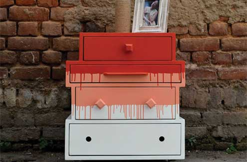Desi Jugaad: House of orange chest upcycled from set of old drawers