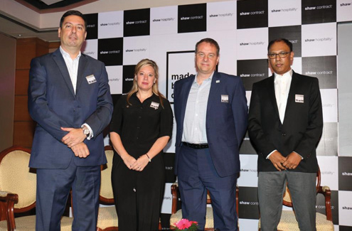 (L-R)- Phil Decker, Kimberly Morgan, Todd Jarvis, Rakesh Lakra