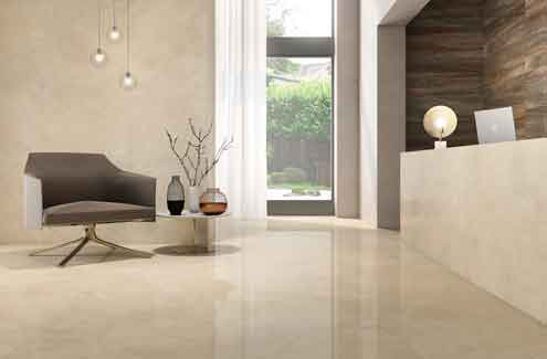 The Marble Cream range by Roca created for timeless spaces  reinvents classic marble by introducing geometric ornamentations