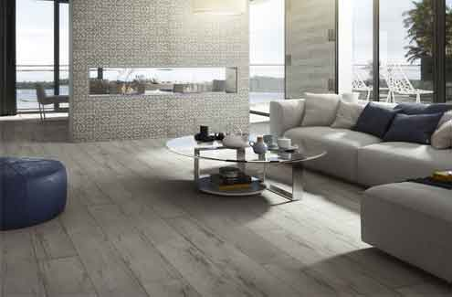 The Poniente range by Roca is designed for one-colour  floors and is inspired by the roughness of volcanic rocks