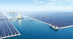 solar farm, floating, Huainan, China, solar panels.