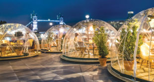 London, PVC Igloo, Garden Igloo, Berlin, warmly-lit hemispheres, Theresa Obermoser.