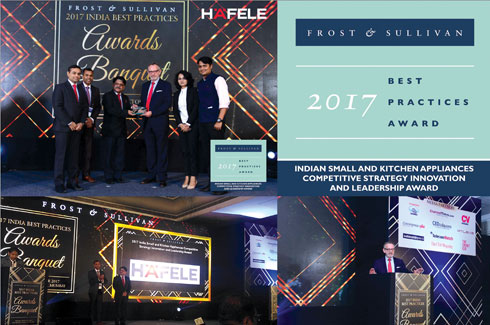 Häfele, Frost and Sullivan Award, Small and Kitchen Appliances, Mr. Jurgen Wolf, Mr. Sudhir Patil, Ms. Taniya Bose, Mr. Aditya Jalgaonkar, Nagold.